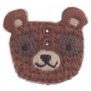 Impex Woodland Bear Embroidered Buttons