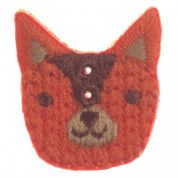 Impex Woodland Fox Embroidered Buttons