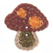 Impex Woodland Toadstool Embroidered Buttons