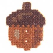 Impex Woodland Acorn Cross Stitch Embroidered Buttons