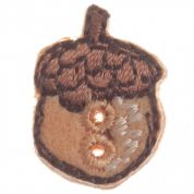 Impex Woodland Acorn Embroidered Buttons