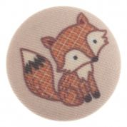 Impex Woodland Fox Fabric Covered Buttons