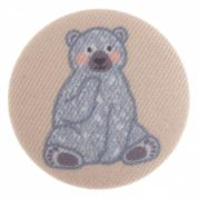 Impex Woodland Bear Fabric Covered Buttons