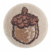 Impex Woodland Embroidered Acorn Fabric Covered Buttons