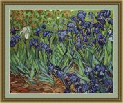 Luca-S Counted Petit Point Cross Stitch Kit Van Gogh Irises