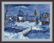Luca-S Counted Petit Point Cross Stitch Kit Winter Landscape