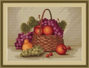 Luca-S Counted Petit Point Cross Stitch Kit Still Life with Apples