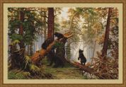 Luca-S Counted Petit Point Cross Stitch Kit Morning in the Pine Forest