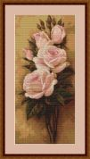 Luca-S Counted Petit Point Cross Stitch Kit Roses I