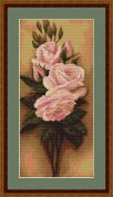 Luca-S Counted Petit Point Cross Stitch Kit Roses II