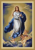 Luca-S Counted Petit Point Cross Stitch Kit Immaculate Conception