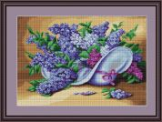 Luca-S Counted Petit Point Cross Stitch Kit Lilacs