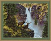 Luca-S Counted Petit Point Cross Stitch Kit Waterfall