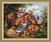 Luca-S Counted Petit Point Cross Stitch Kit Still Life in Nature