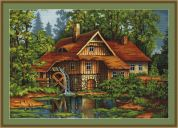 Luca-S Counted Petit Point Cross Stitch Kit Old House in the Forest