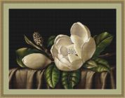 Luca-S Counted Petit Point Cross Stitch Kit Magnolia