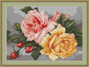 Luca-S Counted Petit Point Cross Stitch Kit Roses