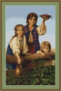 Luca-S Counted Petit Point Cross Stitch Kit Berries