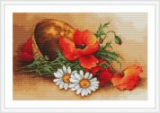 Luca-S Counted Petit Point Cross Stitch Kit Wild Flowers