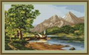 Luca-S Counted Petit Point Cross Stitch Kit Mountain Lake