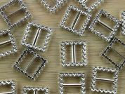 Square Diamante Buckle