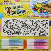 Amos Glass Deco Peelable Stickers Stained Glass Kit