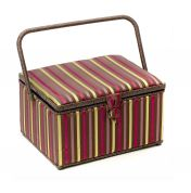 Hobby & Gift Stripe Large Craft Storage Box  Fuchsia Pink