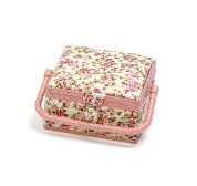 Hobby & Gift Mini Floral Small Craft Storage Box  Pink