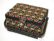 Hobby & Gift Floral Medium Craft Storage Box  Black