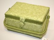 Hobby & Gift Swirl Print Medium Craft Storage Box  Green