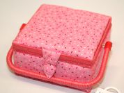 Hobby & Gift Sprinkles Print Small Craft Storage Box  Pink