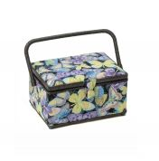 Hobby & Gift Butterfly Medium Craft Storage Box  Black