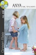 Green Bee Girls Sewing Pattern Anya Tunic, Top & Shorts