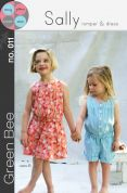 Green Bee Girls Sewing Pattern Sally Romper & Dress