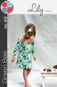 Green Bee Girls Sewing Pattern Lily Dress
