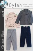 Green Bee Childrens Sewing Pattern Dylan Jacket & Jeans