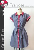 Green Bee Ladies Sewing Pattern Frances Shirt Dress