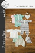Green Bee Baby Sewing Pattern Modern Layette Set