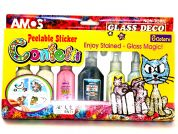 Amos Glass Deco Confetti Peelable Stickers Stained Glass Kit