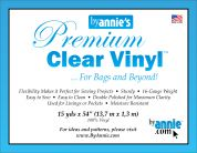 1.35m By Annie Clear Vinyl Fabric  Clear