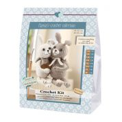 Go Handmade Toy Crochet Kit Lilly & Tim the Rabbits