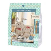 Go Handmade Toy Knitting Kit Laura & Andy the Rabbits