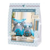 Go Handmade Toy Sewing Kit Eddie & Carlo the Owls