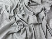 Burn Out Crinkle Poly Cotton Blend Dress Fabric  Silver Grey