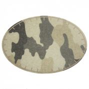Camouflage Oval Iron On Patches  Green