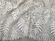 Grace Beaded Lace Fabric  Ivory
