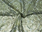 Sequinned Tulle Lace Dress Fabric  Gold
