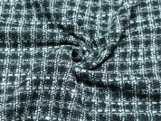 Boucle Tweed Heavy Coat Weight Dress Fabric  Black