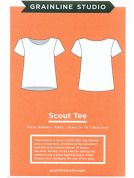 Grainline Studio Ladies Easy Sewing Pattern 11002 Scout Tee