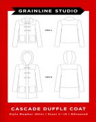 Grainline Studio Ladies Sewing Pattern 16001 Cascade Duffle Coat